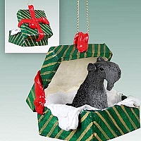 Kerry Blue Terrier Gift Box Green Ornament