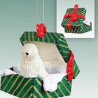 Komondor Gift Box Green Ornament