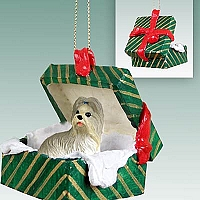 Shih Tzu Mixed Gift Box Green Ornament