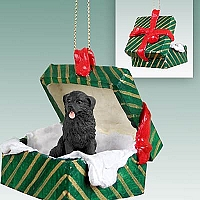 Newfoundland Gift Box Green Ornament