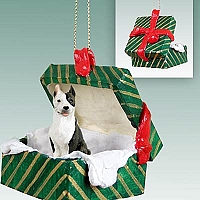Pit Bull Terrier Brindle Gift Box Green Ornament
