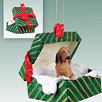 Bloodhound Gift Box Green Ornament