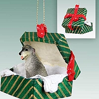 Irish Wolfhound Gift Box Green Ornament