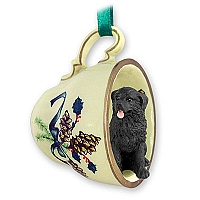Newfoundland Tea Cup Green Holiday Ornament