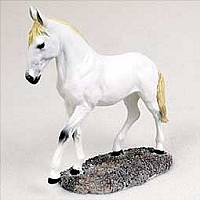 White Horse Walking & Trotting Figurine