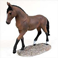 Bay Horse Walking & Trotting Figurine