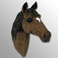 Red & Brown Horse w/Star Markings Magnet