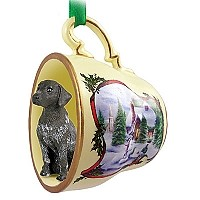 German Short Haired Pointer Tea Cup Snowman Holiday Ornament