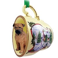 Bullmastiff Tea Cup Snowman Holiday Ornament