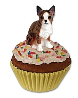 Chihuahua Brindle & White Pupcake Trinket Box