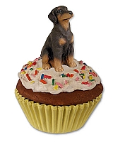 Doberman Pinscher Red w/Uncropped Ears Pupcake Trinket Box