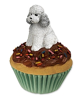Poodle Gray w/Sport Cut Pupcake Trinket Box