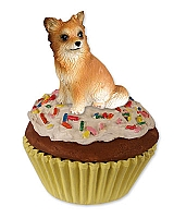 Chihuahua Longhaired Pupcake Trinket Box