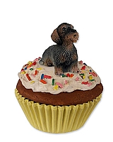 Wire Haired Dachshund Red Pupcake Trinket Box
