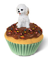 Cockapoo White Pupcake Trinket Box