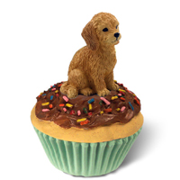 Goldendoodle Pupcake Trinket Box