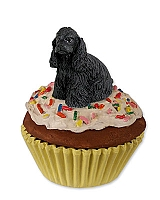 Cocker Spaniel Black Pupcake Trinket Box