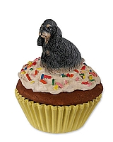 Cocker Spaniel Black & Tan Pupcake Trinket Box