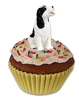 Springer Spaniel Black & White Pupcake Trinket Box