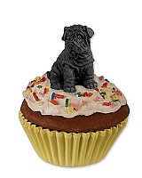 Shar Pei Black Pupcake Trinket Box