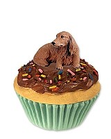 Dachshund Longhaired Red Pupcake Trinket Box