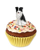 Border Collie Pupcake Trinket Box