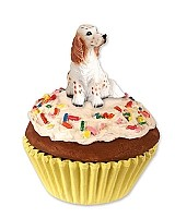 English Setter Belton Orange Pupcake Trinket Box