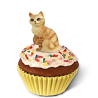 Red Tabby Manx Kittycake Trinket Box