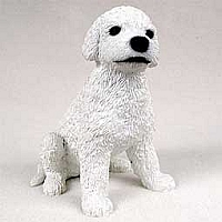 Poodle White Puppy Figurine