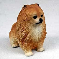 Pomeranian Red Puppy Figurine