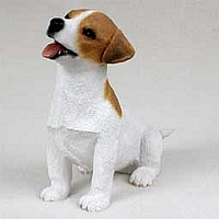 Jack Russell Terrier Brown & White w/Smooth Coat Puppy Figurine