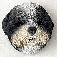 Shih Tzu Black & White Puppy Magnet