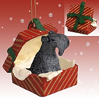 Kerry Blue Terrier Gift Box Red Ornament