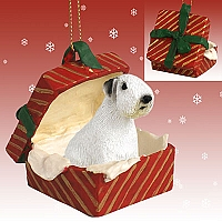 Sealyham Terrier Gift Box Red Ornament