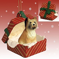 Briard Gift Box Red Ornament