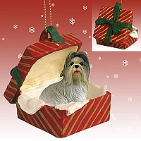 Shih Tzu Mixed Gift Box Red Ornament