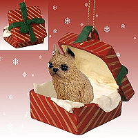 Brussels Griffon Red Gift Box Red Ornament