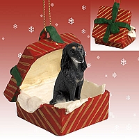 Saluki Gift Box Red Ornament