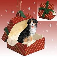 Bernese Mountain Dog Gift Box Red Ornament