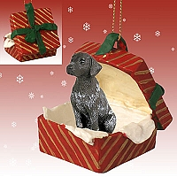 German Short Haired Pointer Gift Box Red Ornament