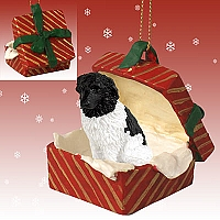 Landseer Gift Box Red Ornament