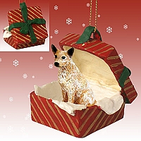 Australian Cattle Red Dog Gift Box Red Ornament