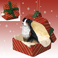Australian Shepherd Tricolor Gift Box Red Ornament