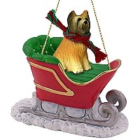 Briard Sleigh Ride Ornament