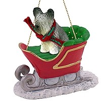 Skye Terrier Sleigh Ride Ornament