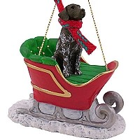 German Short Haired Pointer Sleigh Ride Ornament