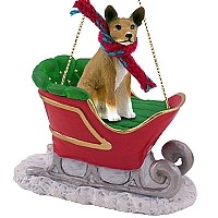 Basenji Sleigh Ride Ornament