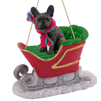 french bulldog christmas decorations