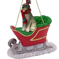 Irish Wolfhound Sleigh Ride Ornament