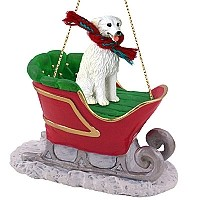 Kuvasz Sleigh Ride Ornament